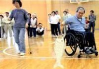 障害者の運動風景