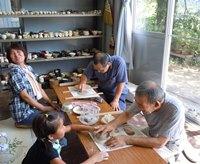 陶芸の作業
